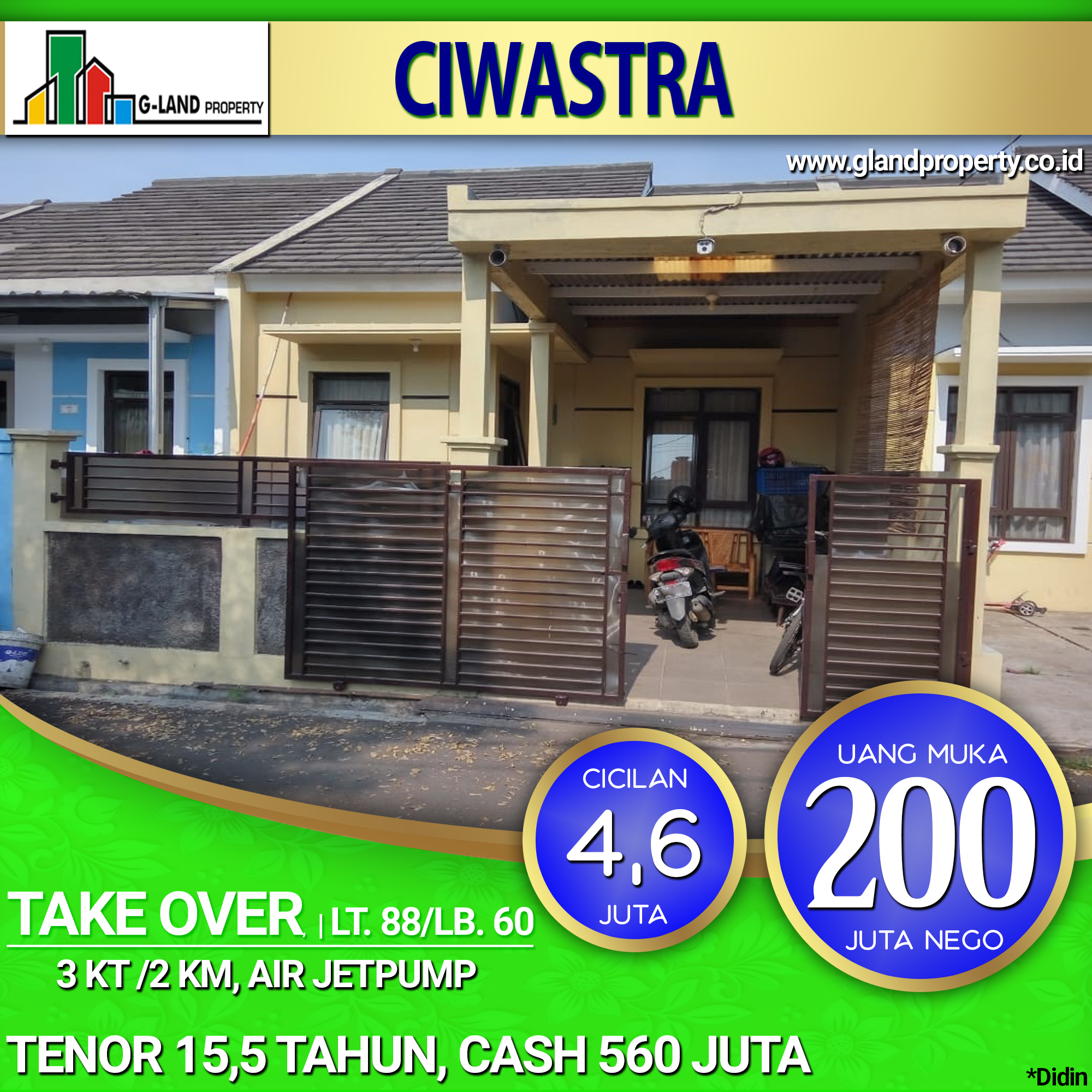 RUMAH TAKE OVER CIWASTRA